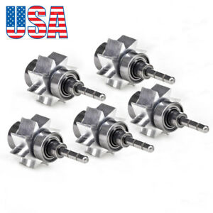 5pcs Dentist Turbine Cartridge Rotator Sliver Bearing F High Speed Handpiece Usa