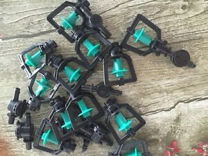 20pcs Greenhouse Humidifier Plant Mist System Rotary Inversion Micro Nozzles