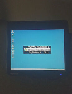 Micros Workstation 5 Pos Terminal With Stand touch Screen W Embedded Ce Msr