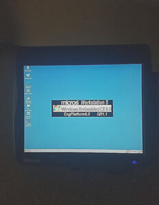 Micros Workstation 5 Pos Terminal Touch Screen W Embedded Ce Msr