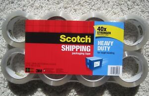 3x8 24 Rolls Scotch Heavy Duty Shipping Packaging Tape 40 X Stronger