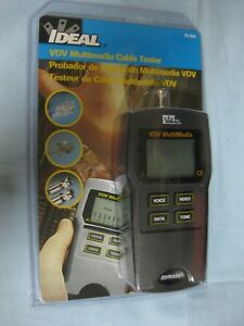 Brand New And Sealed Ideal 33 856 Vdv Multimedia Cable Tester