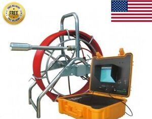 Sewer Drain Pipe 10 Lcd 1 1 2 Self Leveling Video Snake Camera 200ft Cable Usb