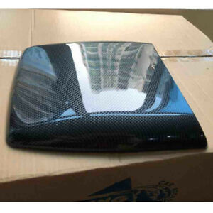 Carbon Fiber Car Decorative Simulation Air Flow Intake Hood Scoop Bonnet Vent