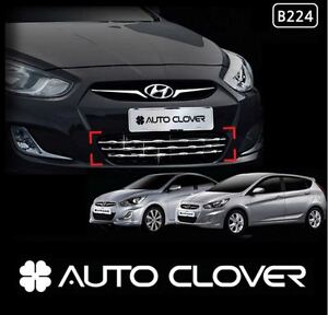 Chrome Bumper Grille Garnish Cover For Hyundai Accent Solaris 2011 2014