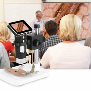 500x 3 5 Inch Hd Screen Integrated Digital Microscope With Stand Led Light D1