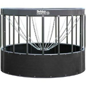 New Haysmart Round Bale Feeder For Horses 96 l X 96 w X 72 h Gray