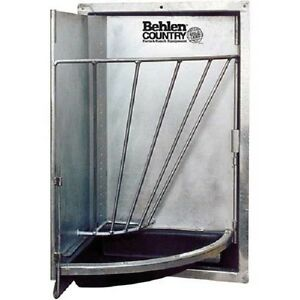 New Galvanized Swing Out Corner Stall Feeder 20 l X 20 w X 12 h