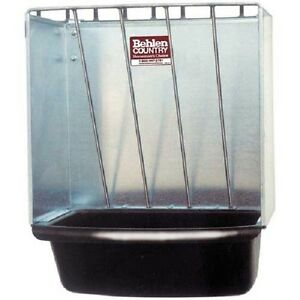 New Galvanized Hay Rack Wall Stall Feeder W Rounded Edges 20 l X 20 w X 12 h