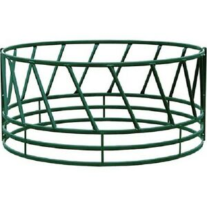 Heavy Duty Bale Feeder W Eight Diagonals Per Section 96 lx96 wx46 h Green