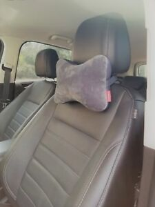 New Micro Bead Car Seat Head Rest Support Pillow Neck Shoulder Pain Cushion Gray