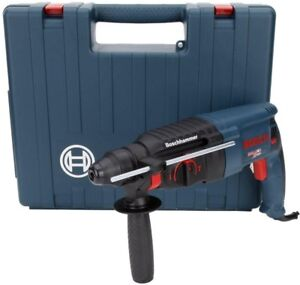 Bosch 1 In Sds plus Corded Rotary Hammer Drill With Auxiliary Handle Chuck Key
