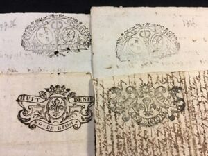 Lot Of Four Documents 1700s
