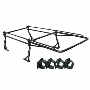 Universal Pickup Truck Utility Ladder Rack W 55 Over Cab W Mounting Clamps