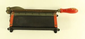 Vintage Paper Photo Trimmer Cutter German Wooden Handle Scrapbooking Rare