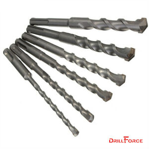 6pcs Sds Rotary Hammer Bit Kit Carbide Drill Bits Set For Concrete Masonry Wall