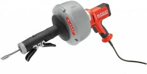Ridgid 115v Autofeed Drain Cleaning Machine With Inner Core Cable Plumbing Tool