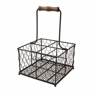 T g Provence Wire Condiment Holder Brown