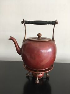 Antique Signed Gorham Co Japanese Aesthetic Movement Tea Kettle Stand Burner