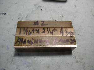 Aluminum Bronze Flat Stock 1pc 1 1 16 X 2 1 4 X 4 5 8 One Side Sawed Finish