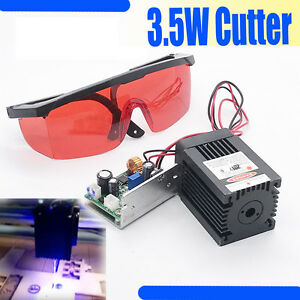 450nm 3 5w 4w Blue Laser Module Ttl Carving burning engraning Gift Goggles