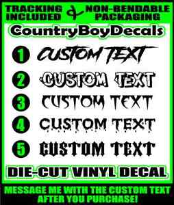 Custom Text 42 Windshield Brow Vinyl Decal Sticker Personalized Truck Car Turbo