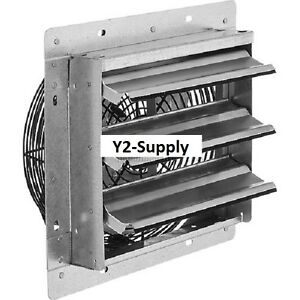 New Exhaust Ventilation Fan With Shutter 10 Single Speed With Hardware