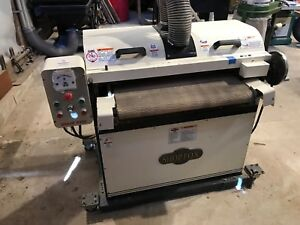 Shop Fox W1678 5 Hp 26 inch Drum Sander In Excellent Condition W Moveable Base
