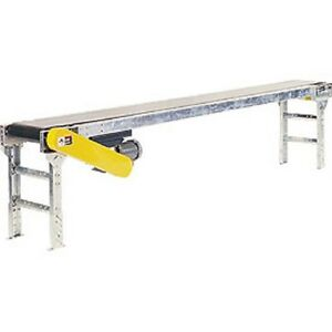 New Powered 20 w X 10 l Belt Conveyor Without Side Rails