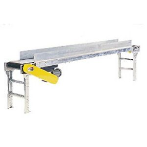 New Powered 20 w X 10 l Belt Conveyor With 6 h Side Rails