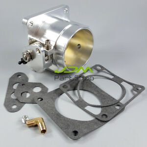 Billet 75mm High Flow Throttle Body For 86 93 Ford Mustang Gt Cobra Lx 5 0l