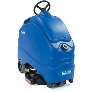 New Clarke S40 20d 20 Stand On Automatic Scrubber 208 Ah Wet Batteries