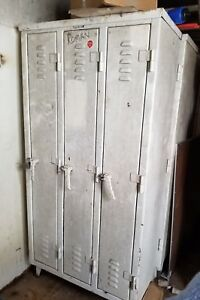 Gym Locker 3 Door Metal School Business Industrial Gym Locker Heavy Duty
