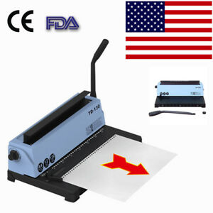 34 hole Punching Binding Machine All Steel Metal Spiral Coil Binder Puncher Fda