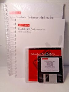 Keithley 2400 Series Source Meter Quick Results Guide And Support Software