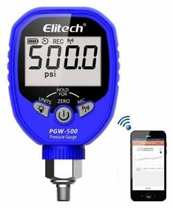 Elitech Pgw 500 Wireless Digital Pressure Manifold Gauge Refrigeration Hvac Tool