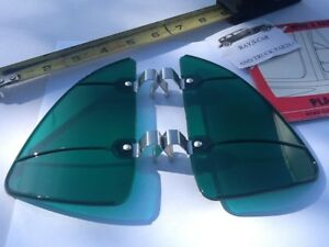 New Pair Of Accessory Green Colored Vintage Style Air Vent Window Deflectors 86