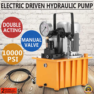 Electric Driven Hydraulic Pump Double Acting 110v 2 Stage Long Lifespan Newest