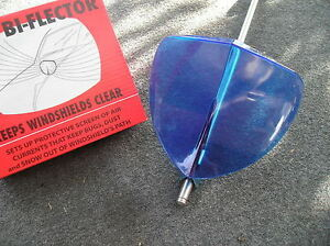 New Single Accessory Vintage Style Blue Windshield Bug Deflector 86