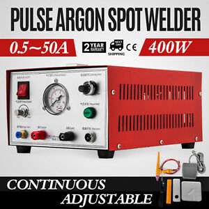 50a 400w Pulse Argon Spot Welder Welding Jewelry Gold Silver Platinum Palladium