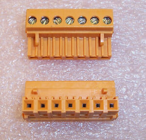 Qty 50 135656 Weidmuller 7 Position Pluggable Screw Terminal Blocks 5 08mm