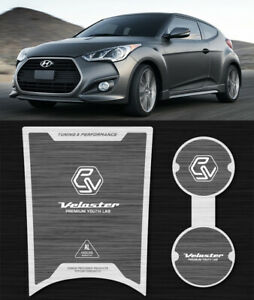Korea Dxsoauto Aluminum Silver Cup holder Plate For Hyundai Veloster 2016 2017