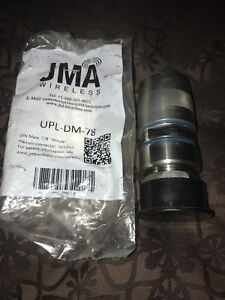 Jma Din Male Connector For 7 8 Plenum Cable Upl Dm 78