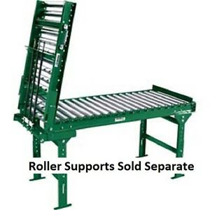 3 Oal spring Assist Gate Section Galvanized Steel Roller Conveyor 1 3 8 16 Bf