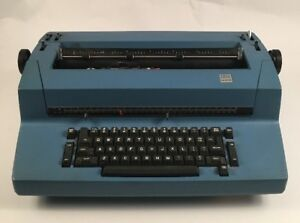 Vintage Blue Ibm Correcting Selectric Ii Typewriter Tested For Parts Or Repair