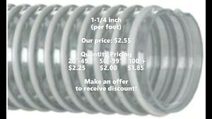Kanaflex 100 Cl 1 1 4 Corrugated Clear Pvc Water Suction Hose per Foot