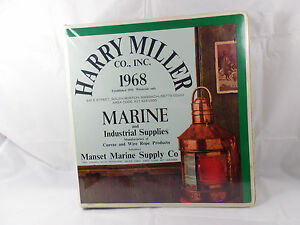 Vintage Harry Miller Co Binder Boston Ma 1968 Manset Marine Supply Me 3 ring