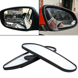 Pair 360 Stick On Wide Angle Convex Rear View Blind Spot Mirror For Car Suv