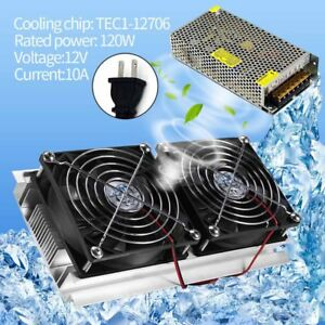 2 Core Refrigeration Thermoelectric Peltier Air Cooling Cooler Us Power Supply