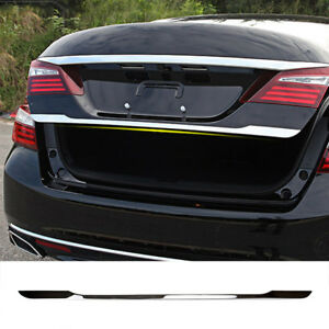 Xukey Fit For 2013 2017 Honda Accord Chrome Rear Trunk Trim Tail Gate Cover